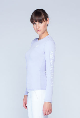 Noel Asmar Women's AE Logo Long-sleeved T - Lagoon Blue