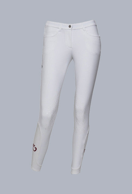 Cavalleria Toscana grip system breeches - White - Uptown E Store
