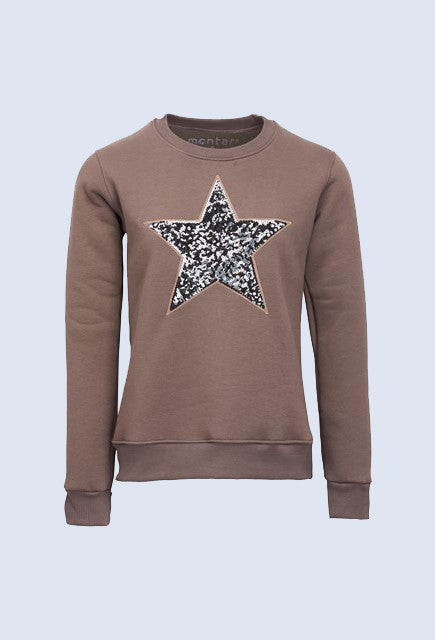 Montar Amber brown sweatshirt with star - Uptown E Store