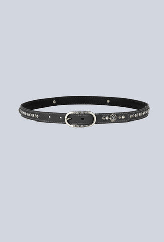 Montar Blue Haircalf Belt