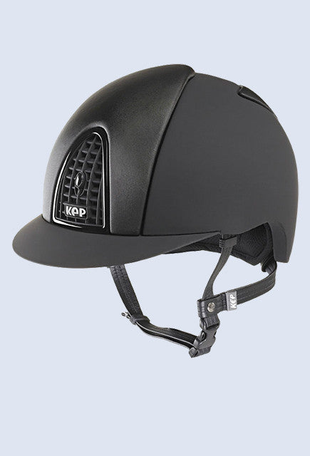 Kep Italia Cromo T Dressage black with black grid and black satin inserts - Uptown E Store