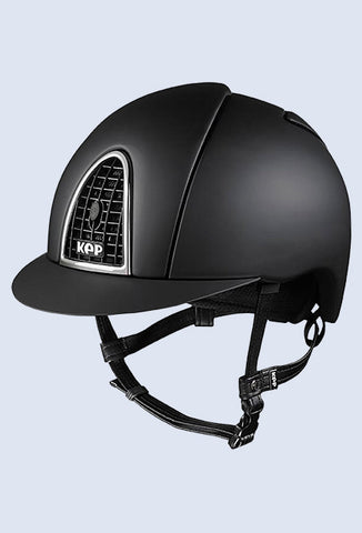 Kep Italia Cromo T Dressage black with black grid and black satin inserts