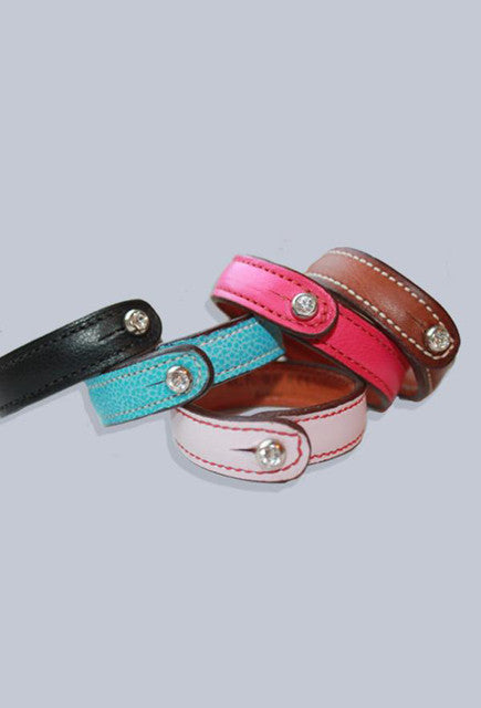 Burel Leather Bracelet with Swarovski Crystal - Uptown E Store