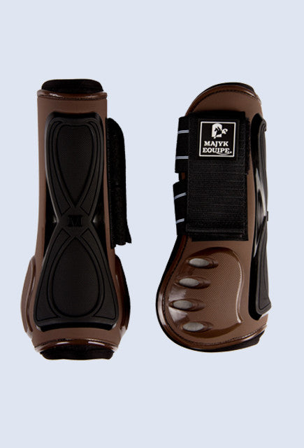 Majyk Equipe Vented Infinity Tendon Boot - Brown - Uptown E Store