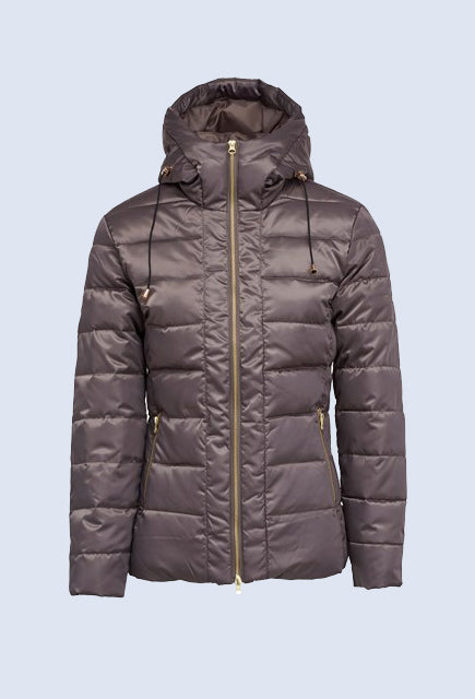 Montar Sandy Mud Down Jacket with Hood - Uptown E Store