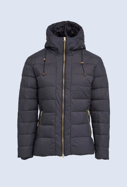 Montar Sandy Navy Down Jacket with Hood - Uptown E Store