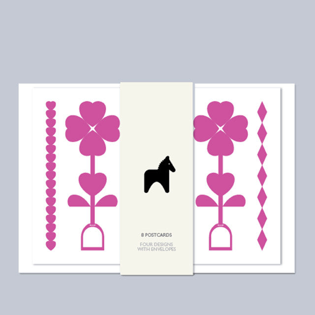 Leroy & Bongo Cards - Pink/Grey - Uptown E Store