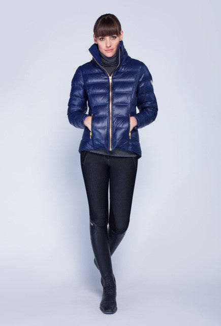 Noel Asmar Arabesque Down Coat - Navy - Uptown E Store