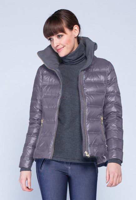 Noel Asmar Arabesque Down Coat - Steel - Uptown E Store
