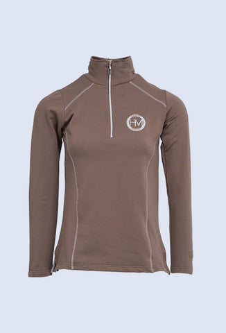 Montar Cora Grey neck zip jersey