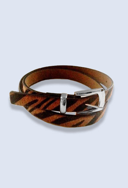 Montar Brown zebra Belt - Uptown E Store