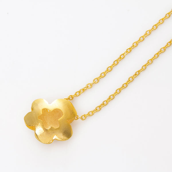 Double Clover Link Necklace