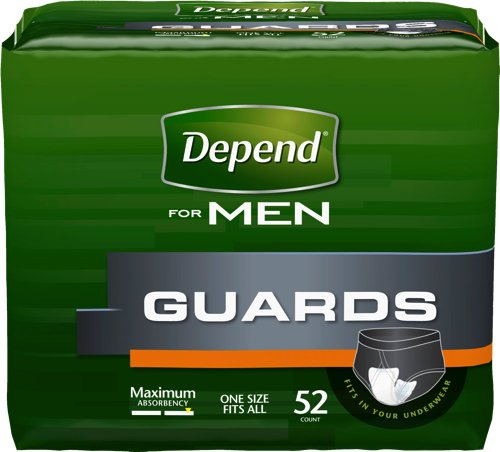 Depend Guards, Maximum, Regular Length (Pack of 52)