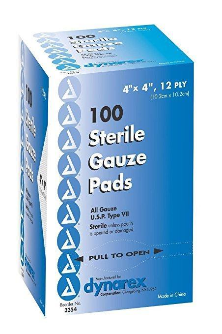 4x4 Gauze Pads (100 count)