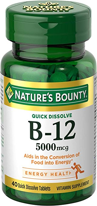 Nature's Bounty Vitamin B12 5000 mcg 40 ea