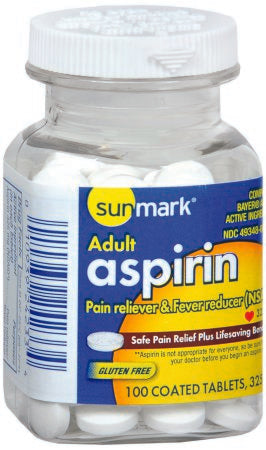 Aspirin 325 mg 100 Tablets