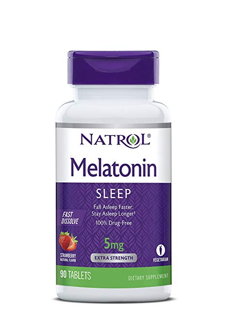 Melatonin 5mg Strawberry Flavor 90 tablets