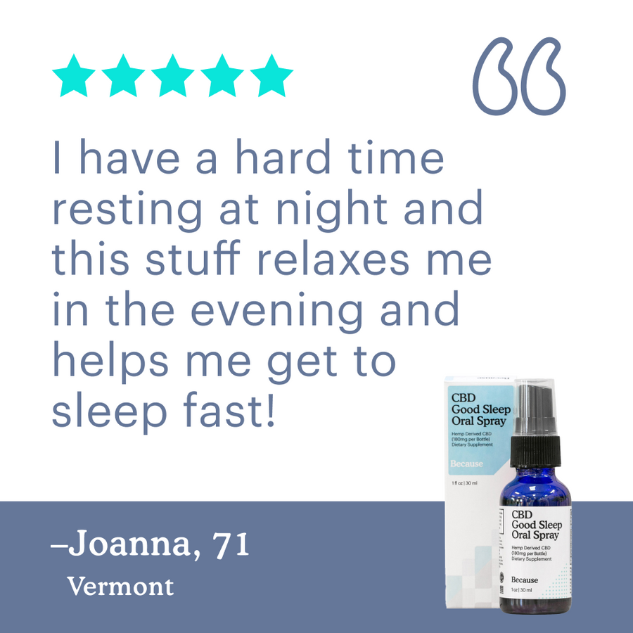 Because Hemp Extract Good Sleep Oral Spray