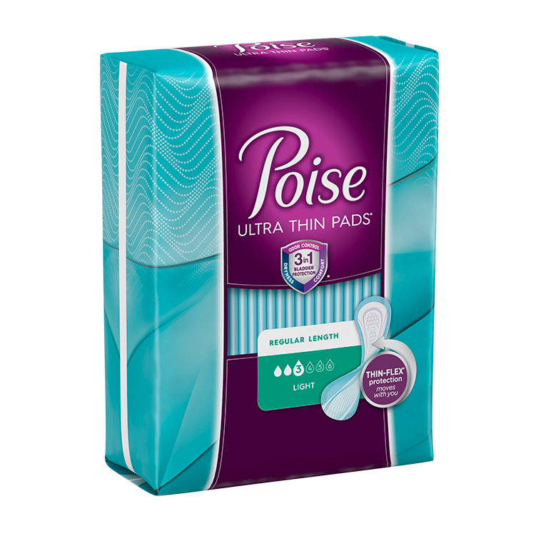 Poise Ultra Thin Pads For Women (Moderate)