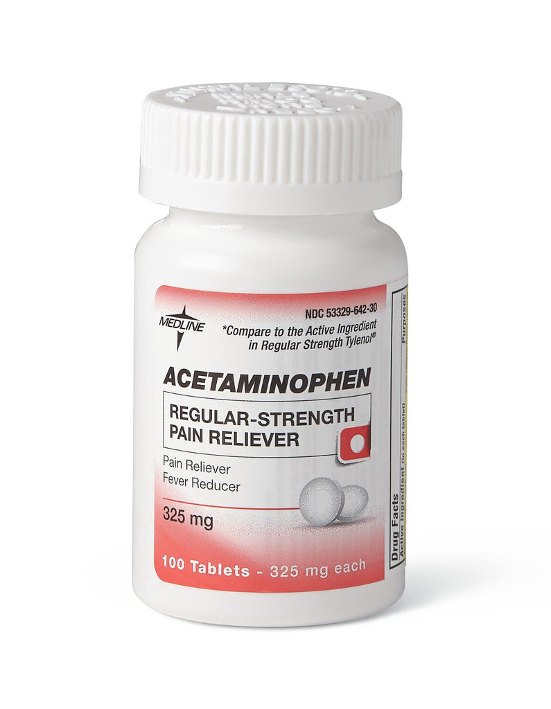 Acetaminophen Regular Strength (325 mg) 100 Tablets