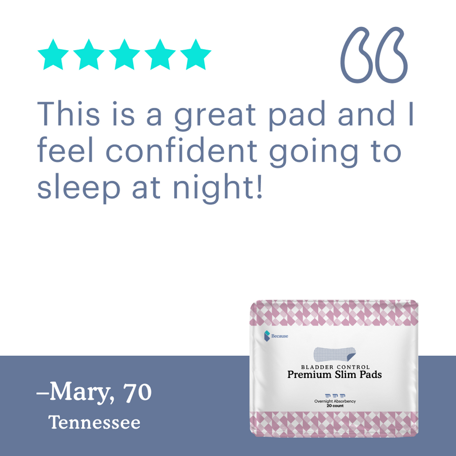 Because Slim Pads for Women (Overnight+)