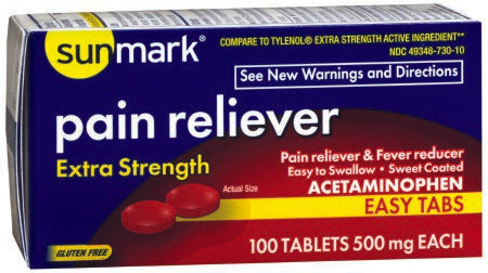 Acetaminophen Extra Strength (500 mg) 100 Tablets