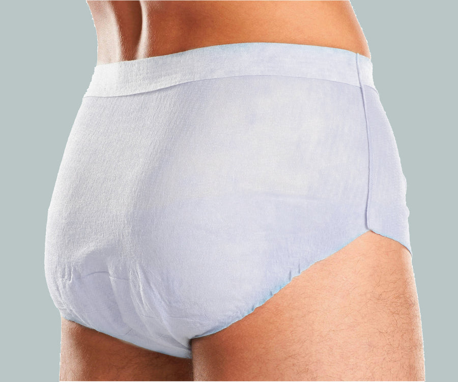 Retrial Pack of 20 Because Classic Underwear for Men (Overnight)