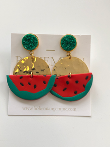 Watermelon Statements w/ druzy accent