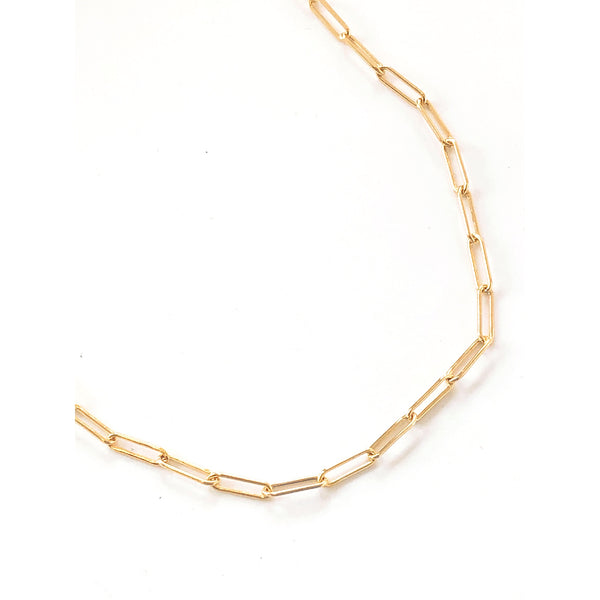 Daisy Cable Linked Chain (Gold-Filled)