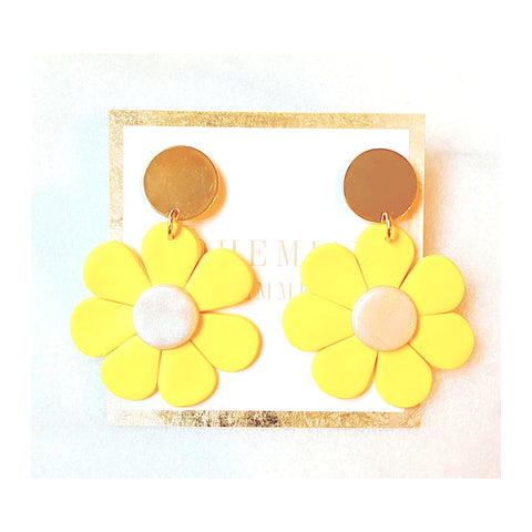 Paige Yellow Flower Earrings