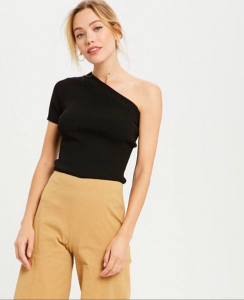 Blair One Shoulder Knit Top