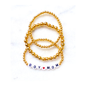 Boy Mom Beaded Bracelet Stack