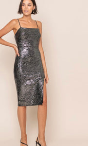 Jade Sequins Holiday Dress