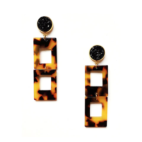Ann Tortoise Dangle Earrings