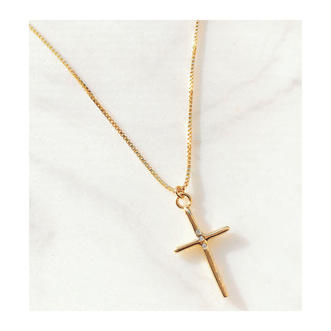 Sebastian Cross Pendant Necklace (GF)