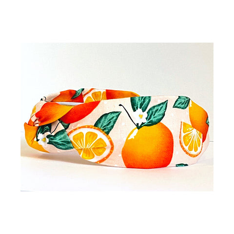Araceli Orange Print Headband