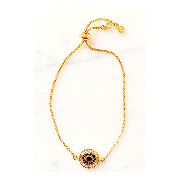 Iris Pave Eye Bracelet (Gold-Filled)