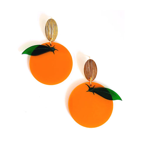 Orange Statement Earrings