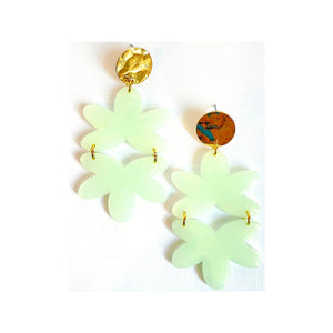 Alice Seafoam Green Resin Earrings