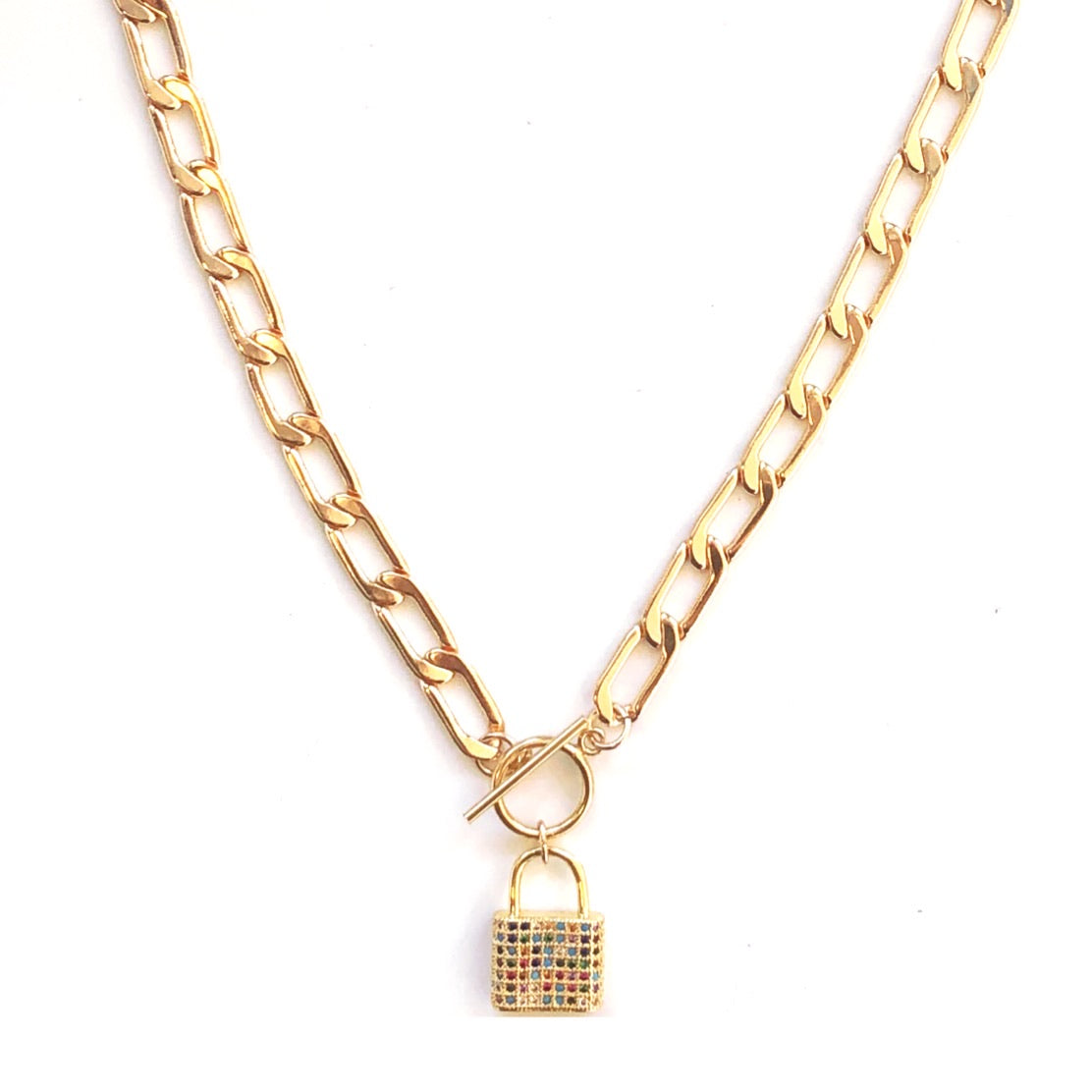 Ellie Gold Filled Padlock Necklace