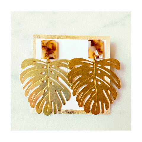 Zoe Brass Leaf Statements