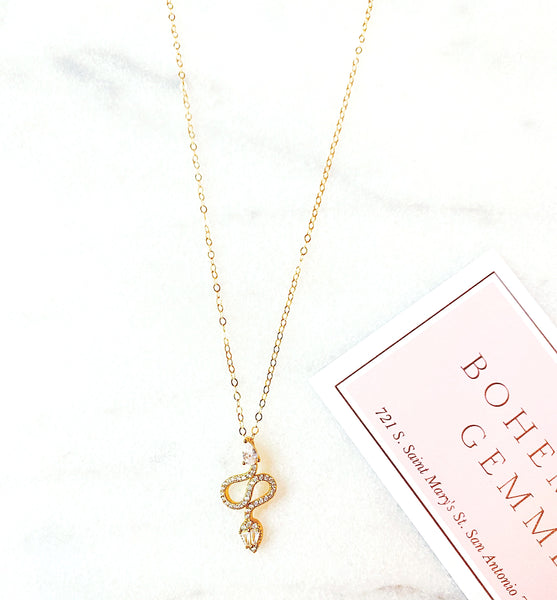 Nikki Pave Snake Chain (Gold-Filled)