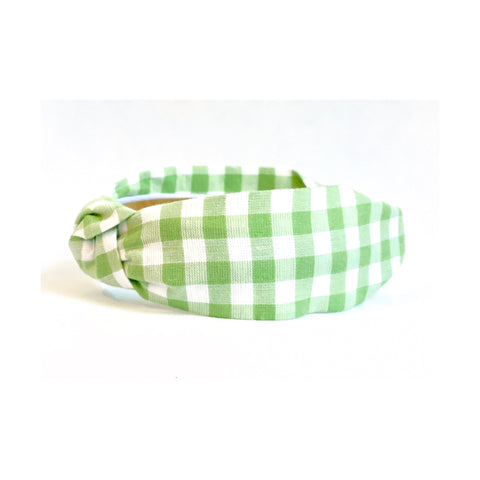 Hannah Green Gingham Headband