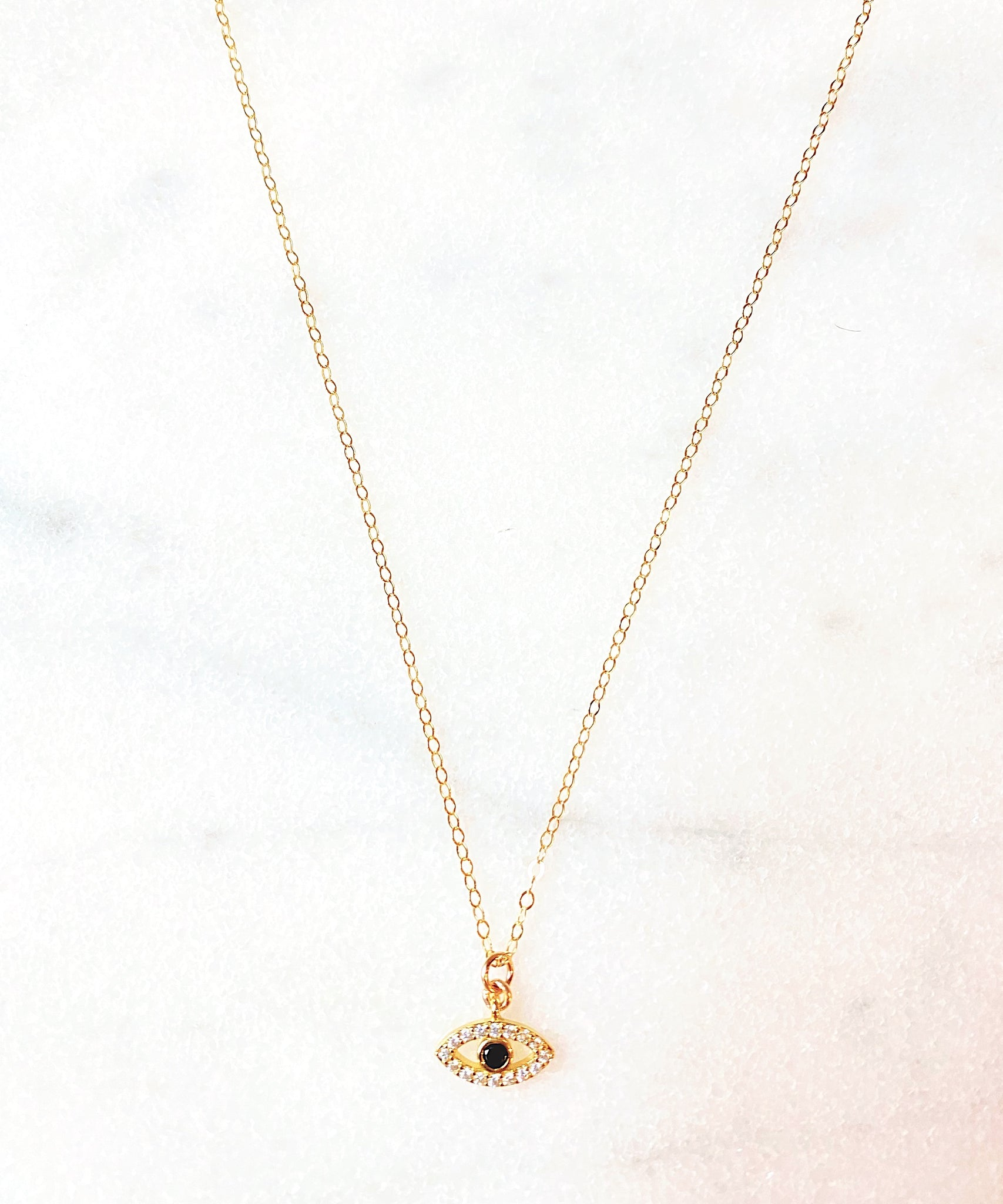Carrie Tiny Eye Necklace