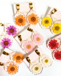 Allie Pressed Daisy Earrings