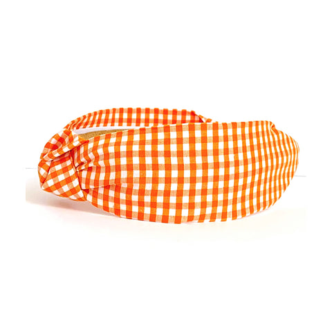 Orange Gingham Headband