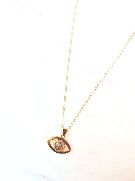 Amelia Gold Filled Eye Necklace