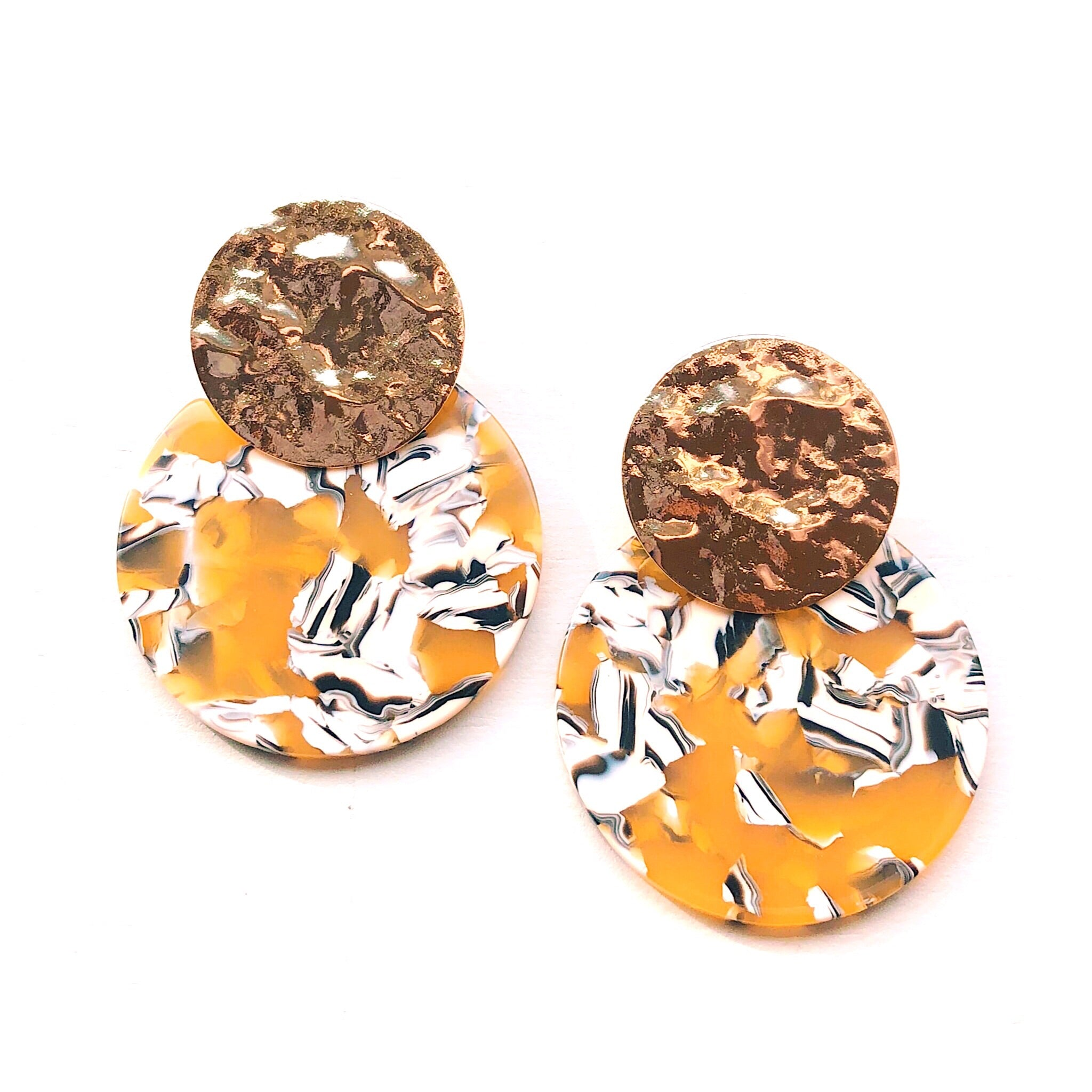 Peyton Resin Disk Earrings