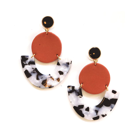 Roselyn Resin Statement Earrings