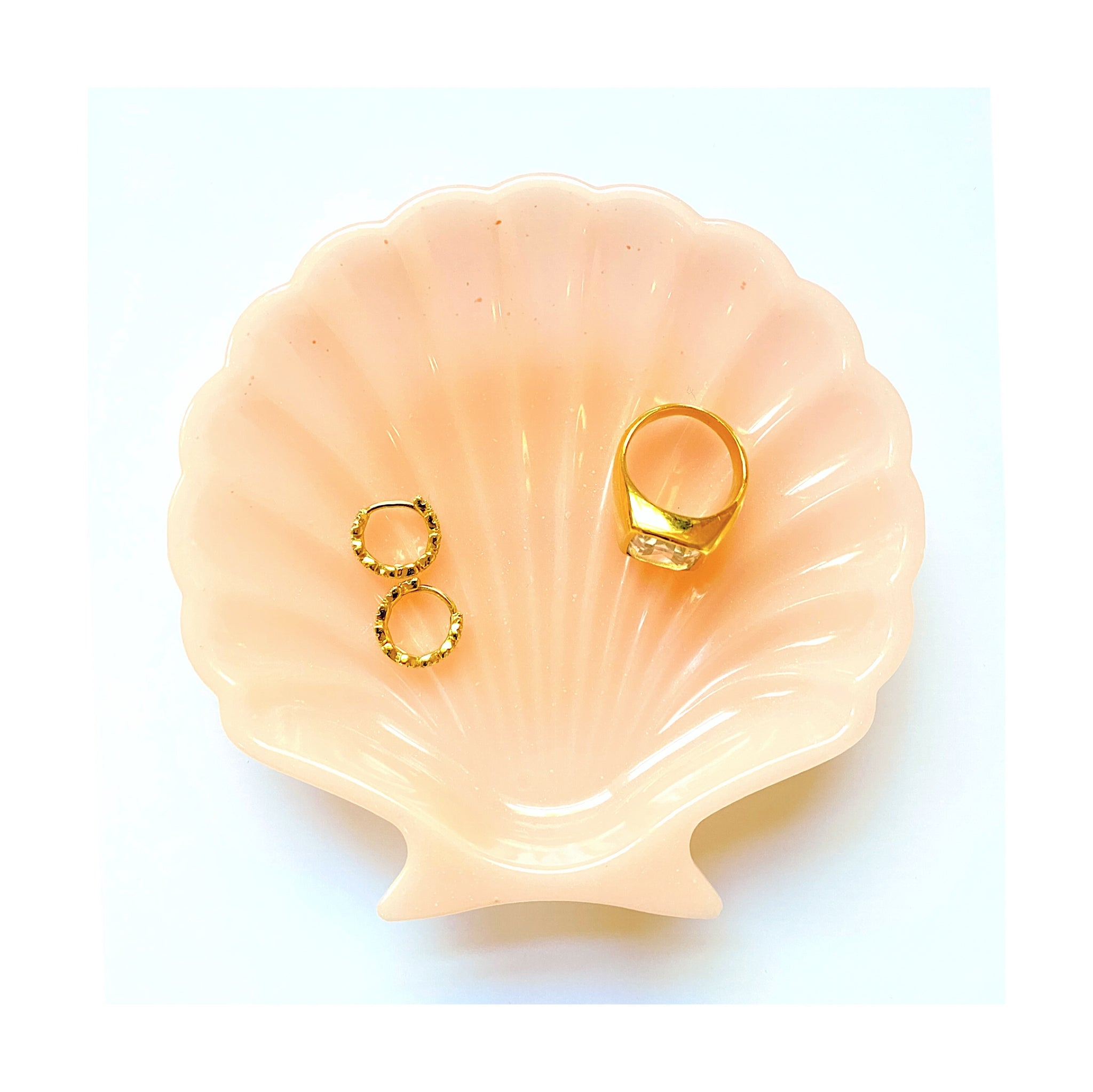 Powder Pink Small Shell Jewelry Dish